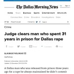 Dec 18 2014 - Article on 2 and a half million for wrongfull convicted manh - Judge clears man who spent 31 years in prison for Dallas rape _ Dallas Morning News-thumbnail